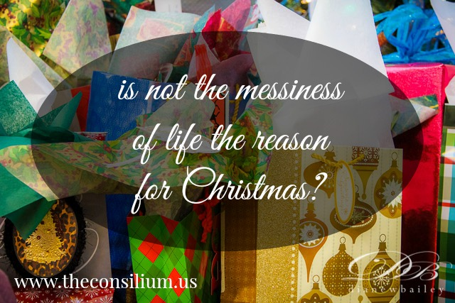 Jeanne Damoff on the messiness of Christmas